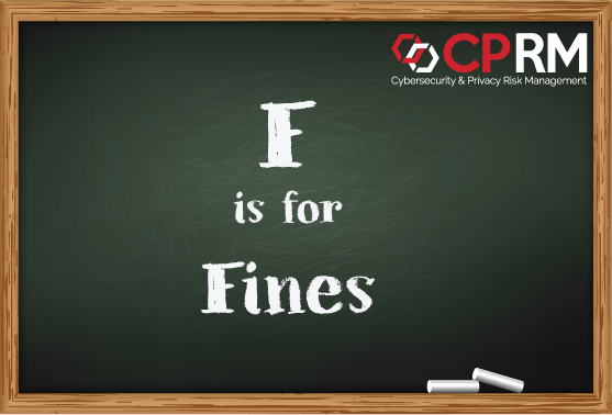 f is for fines in GDPR