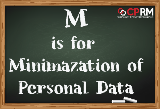 m is for minimization of personal data