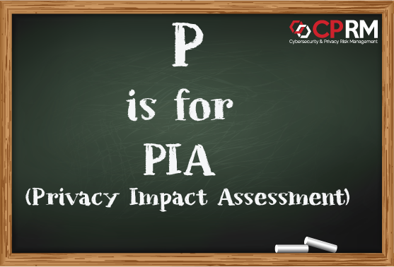 p is for PIA - Privacy Impact Assessment or Data Privacy Impact Assessment DPIA